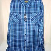 мужская синяя большая рубашка 4xl 49-50 Возможен торг