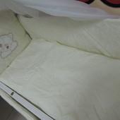 Жаккард с Вышивкой комплект детского постельного белья 9 в 1 эконом