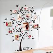 Интерьерная наклейка Дерево с сердцами. Наклейки на стену. Декор интерьера