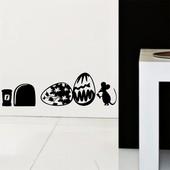 Интерьерная наклейка. Интересный декор к Пасхе  Мышка норка. Наклейки на стену.