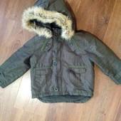 Демисезонная курточка ветровка на флисе 2-3 года
