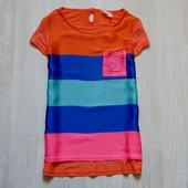 Яркая футболочка для девочки. Next. Размер 8 лет.