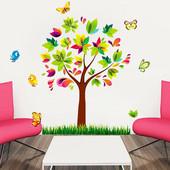 """Интерьерная наклейка """"Дерево в цвету"""". Виниловые наклейки на стену. Декор интерьера"""
