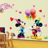 """Интерьерная наклейка """"Микки и Минни"""". Виниловые наклейки на стену. Декор интерьера"""