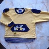 Махровый свитер на мальчика размер 80 см (реально до 2 лет)