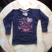Утепленный реглан свитшот на девочку фирма Palomino размер 92 (можно до 3 лет)