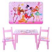 Столик + 2 стульчика 2547-34 Феи Винкс