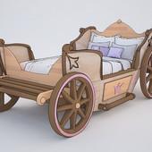 Кровать Карета - кровать для настоящих Царевен, Доставка бесплатно!