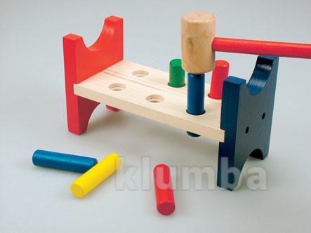 Игрушечный деревянный молоточек стучалка bino фото №1