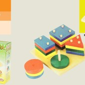 Деревяная игрушка 2011-92 Логика квадрат