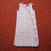 Хлопковый спальный мешок на 0-3 месяца, б/у. Хорошее состояние, без пятен. На сентипоне. Длина 64 см