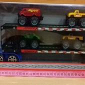 Машина трейлер с машинками