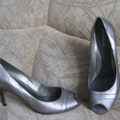 туфли серебристые River Island, сделано в Бразилии, 25,5см по стельке, 39 размер