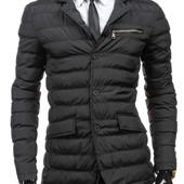 Стеганая мужская куртка пиджак с латами