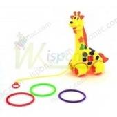 Животное  жираф, каталочка-кольцеброс, свет, звук