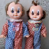 Клоуны косолапки, ГДР, 29 см б/у