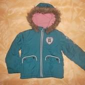 Куртка на синтепоне с капюшоном рр. 122