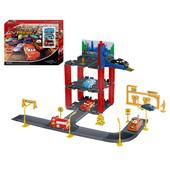 """Детский гараж """"Тачки"""" на 3 уровня, 3 машинки"""