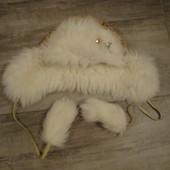 Зимняя шапка - ушанка для девочки