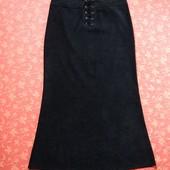 Женская демисезонная юбка размер 14 (L), б/у. Очень хорошее состояние, без пятен. Ткань на ощупь нап