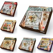 Настенные Часы с рамкой декупаж Decoupage clock dankotoys DKС-01-01/05 данко тойс