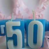 Свечи цифры для торта. Под заказ.