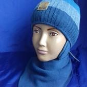 Детский комплект - шапка и шарф для мальчика, Agbo (Польша)