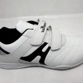 Белые кроссовки на липучках 02-2