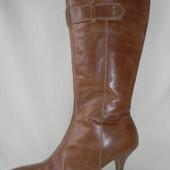 Женские кожаные сапоги new look р.37(4)