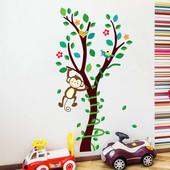 Наклейка Обезьянка на дереве
