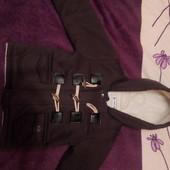 Пальто для мальчика.темно-серое.размер 100