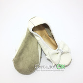 Детская обувь. Чешки кожаные, белые Украина для девочек (17,5см-22см)