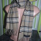 Теплый шарф - клеточка - cashmink 30х1.75 - германия!!!