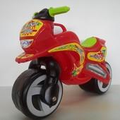Мотоцикл беговел Киндер Вэй 11-006 красный пластиковый Kinder Way
