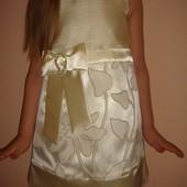 На праздник осени, мамочки! Нарядное новое нежное платье 3-6 лет