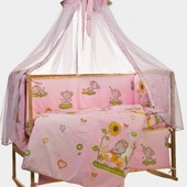 детский постельный комплект из 7 элиментов
