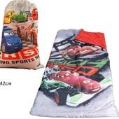 Спальник одеяло для мальчика Тачки (спальный мешок)