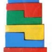 Пирамидка-головоломка 14 эл., Komarovtoys A 334