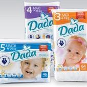 Подгузники Dada цена за 1уп. актуальная! памперсы Дада premium comfort fit комфорт фит Польша
