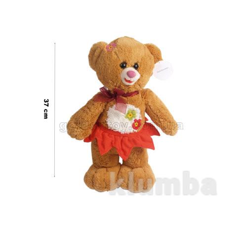 Медведь рыжий в комбезе/в юбке стоящий 37 см фото №1