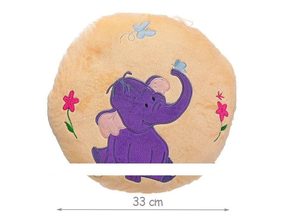 Подушка круглая со слоником фото №1