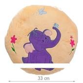 Подушка круглая со слоником
