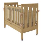 Кроватка из бука - натуральное дерево, Oscar на колесиках с ящиком, гарантия! Натуральный
