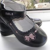 Кожаные туфельки стелька 16,3 см последняя пара