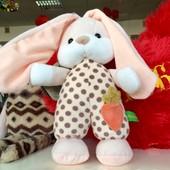 Зайчик стоячий Лорі, заец лори, заєць мягкие игрушки тм левеня