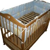 Защита в Детскую кроватку.4 борта. (120 х 60 кроватка)