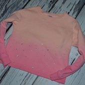 Кофта батник пайта фирменная теплая свитер девочке 9 - 10 лет 140 см
