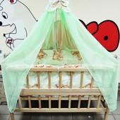 """9 в 1 - 5 расцветок! - постельное для малышей """"Мишки спят"""""""