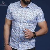 Короткий рукав!Супер модные мужские рубашки!!