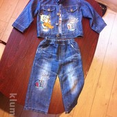 Продам джинсовый костюм Спанч Боб